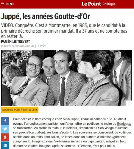 Le Point, 14 novembre 2016.
