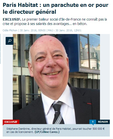 Le Parisien du 30 janvier 2016.