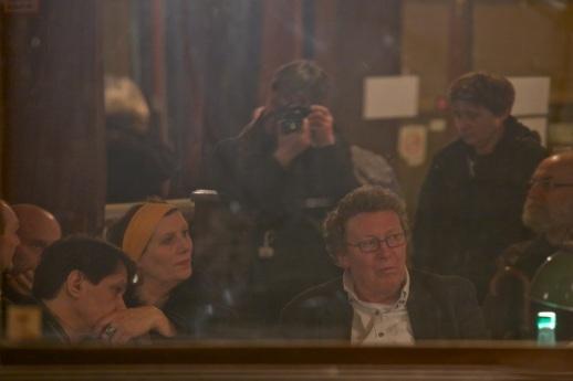 Florent Tesnier, Nicole Bertolt et Olivier Russbach dans l'oeil du cyclone.