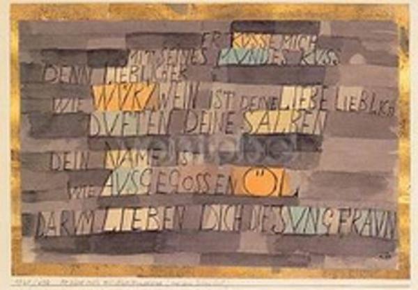 Vanités et vanités : Façade amoureuse inspirée de Paul Klee