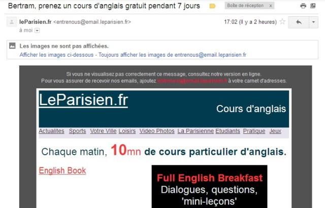 Mail de Le Parisien à le blogmaster de Cavé Goutte d'Or (26 février 2013).