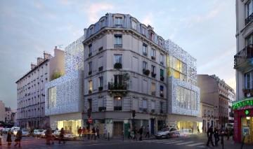 Angle Stephenson/Doudeauville © Mairie de Paris.