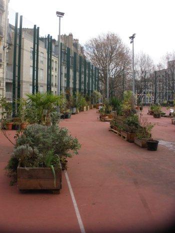 La Goutte verte sur la future esplanade Boris Vian (12-13 décembre 2016).