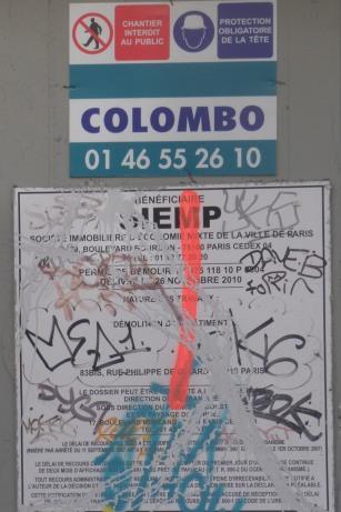Colombo a lui aussi évoqué le démarrage de la démolition. C'est sa femme qui va être contente !