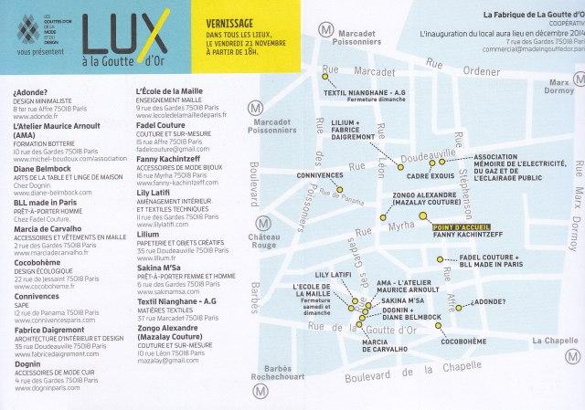 Le programme de LUX du 20 au 23 novembre 2014.