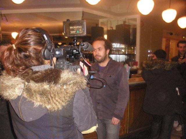 Said Messous devant la caméra de D8 (reportage a suivre en avril 2014).
