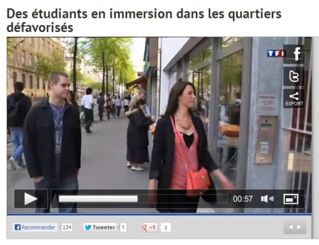 À la hauteur du 54 rue Marx Dormoy (image TF1 2 avril 2013).