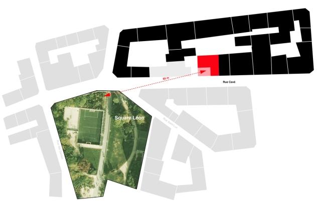 Le carré blanc qui fait voir rouge. Extrait du site de l'architecte.