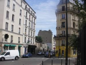 Actuel pignon du 20 Cavé, vu du square Léon.