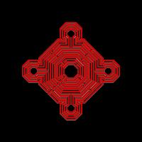 Logo des MH (Le labyrinthe de la cathédrale de Reims.