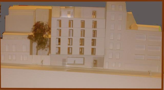 La maquette du 22-24 rue Cavé présentée le 11 septembre 2013.