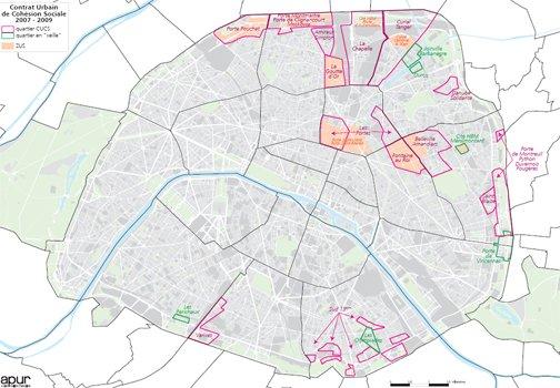 Le ZUS CUCS CLAN qui déséquilibre Paris (Sources Observatoire des ZUS).