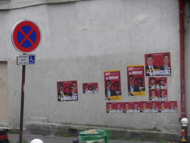 Sur les murs du 14 rue Affre (mai-juin 2012).