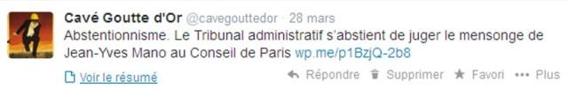 Compte twitter de Cavé Goutte d'Or.