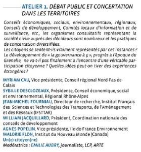colloque CNDP- Atelier 1 DP, concertation ds les territoires