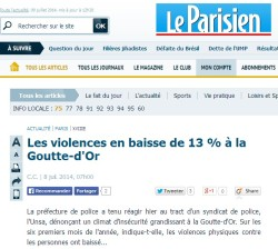 Le Parisien du 8 juillet 2014.