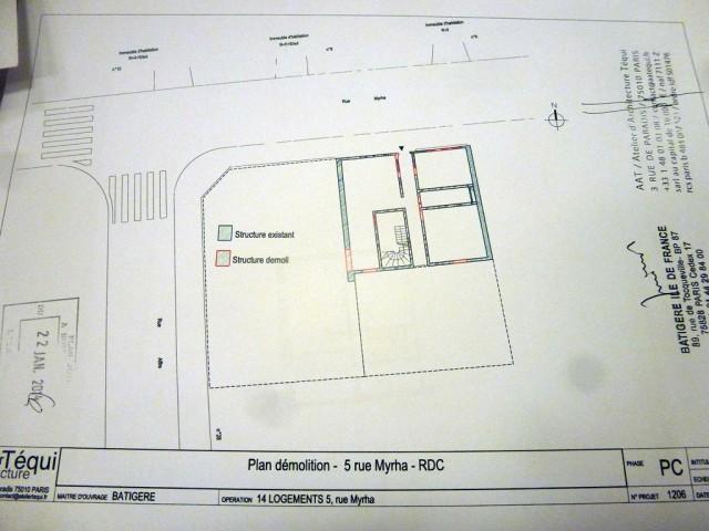 Extrait de la demande de permis de construire du 19 juin 2013 (Atelier d'Architecture Téqui).