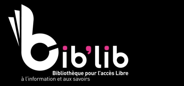 Le logo de la Charte de Bib'lib sa charte pour le « droit fondamental des citoyens à accéder à l'information et aux savoirs par les bibliothèques »