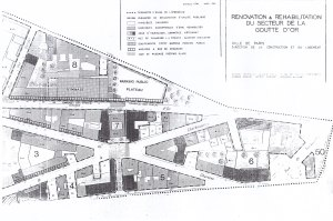 Plan de reconstruction soumis à enquête publique (1984) publié dans le journal de Paris-Goutte d'Or