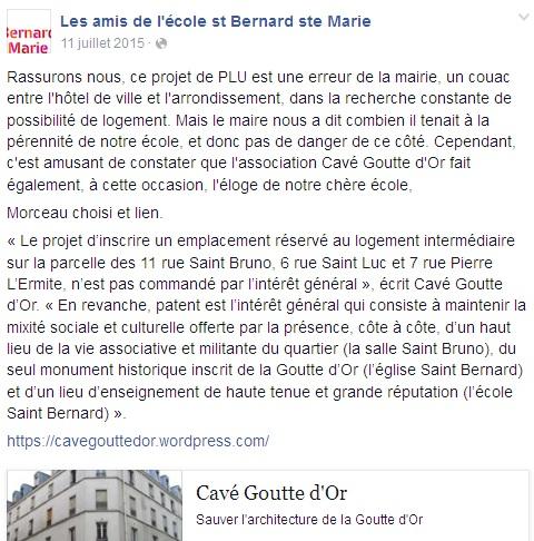 Quand les amis de l'école Saint Bernard sont amis avec Cavé Goutte d'Or.