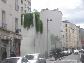 Végétalisation de surface, rue des Poissonniers (75018)